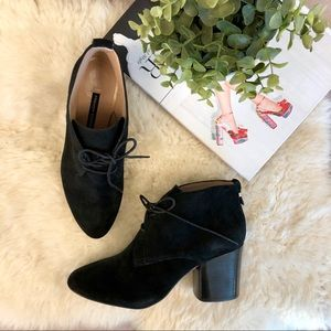 French Connection 'Dinah' Black Suede Booties SZ38